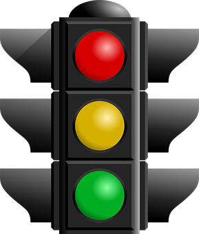 Traffic Light, Red, Black, Green, Yellow