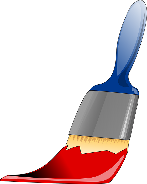 Red Paints free vector graphic: paintbrush, tool, painting, paints - free