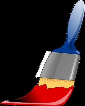 Pinsel, Werkzeug, Malerei, Farben, Rot