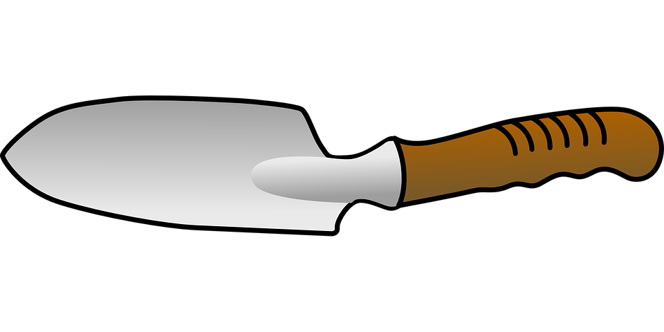 Trowel tool digging free vector graphic on pixabay for Gardening tools cartoon
