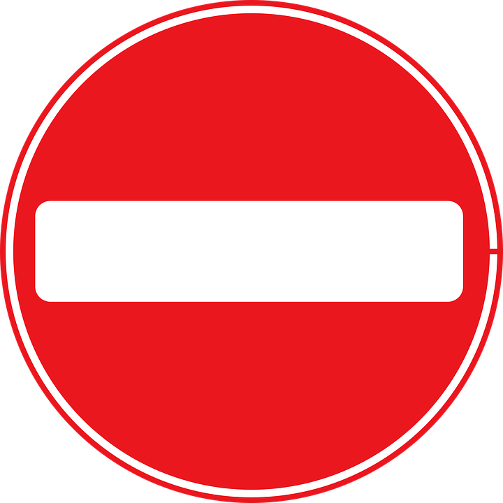 Sign No Entry Traffic · Free vector graphic on Pixabay