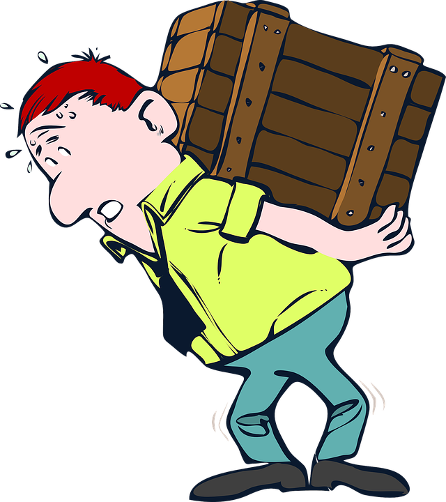 Lifting, Box, Wood, Heavy, Crate, Moving, Lift, Male