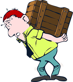 Lifting, Box, Wood, Heavy, Crate, Moving