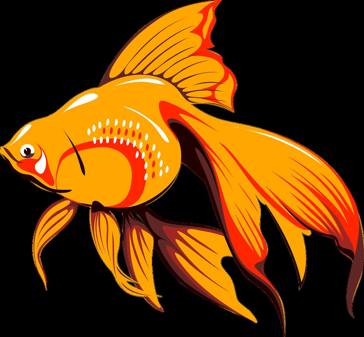Картинки золотых рыбок для детей