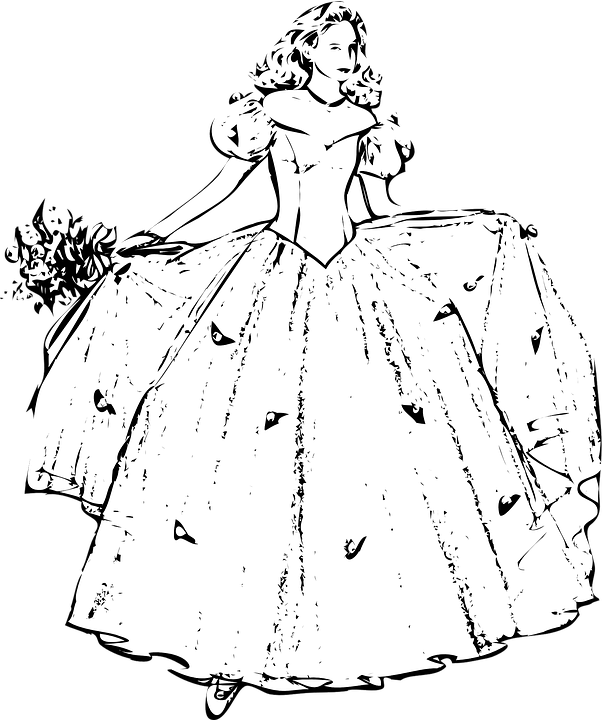 Free vector graphic: Gown, Woman, Flowers, Dress - Free ...
