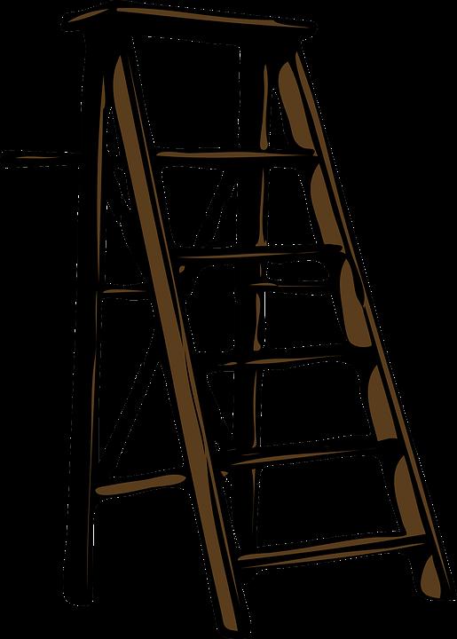 Ladder Wood Step Steps Tool Brown Staircase