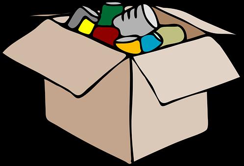 Packing, Box, Storage, Open, Full