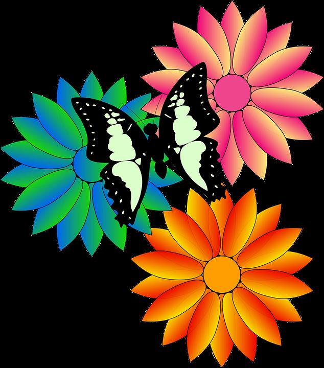 Schmetterling Blumen Schwarz · Kostenlose Vektorgrafik auf Pixabay