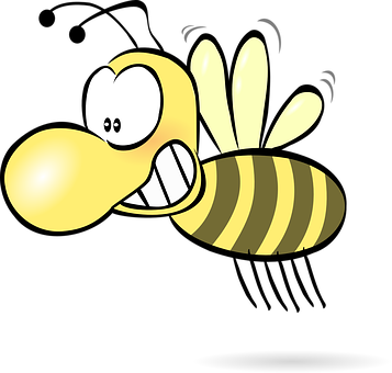 Bee, Honey, Wasp, Hornet, Funny, Cute
