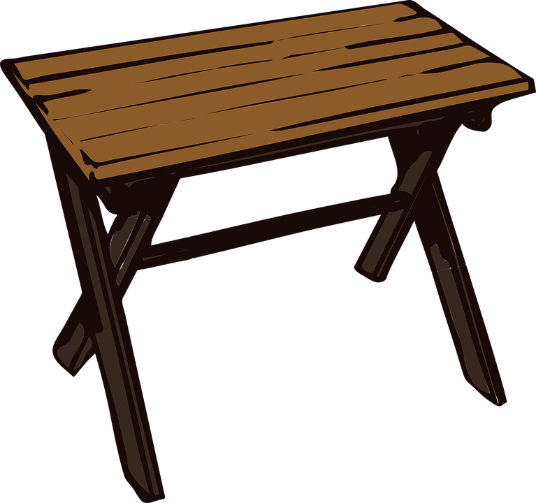 table wooden small collapsible