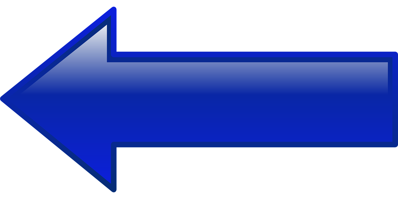 Arrow Left Blue - Free vector graphic on Pixabay