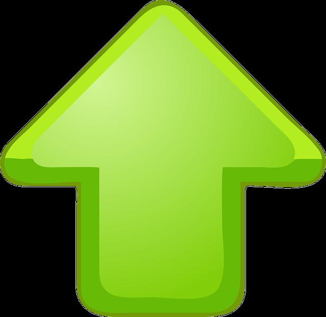 arrow upward green  u00b7 free vector graphic on pixabay Cute Cartoon Frogs Cute Frog Silhouette