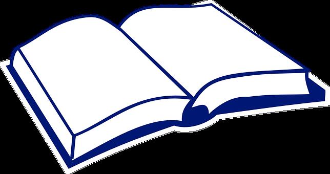 Książka, Otwarte, Podręcznik, Okładka