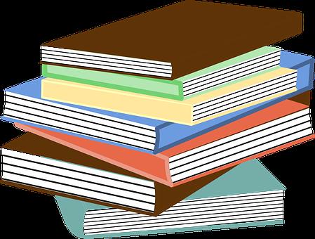 Livres, L'Éducation, Manuels, Pile