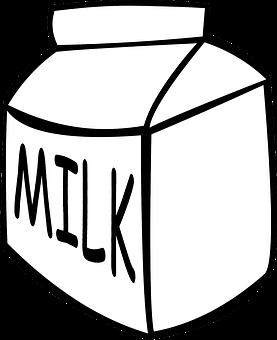 Milk, Carton, Drink, White, Beverage