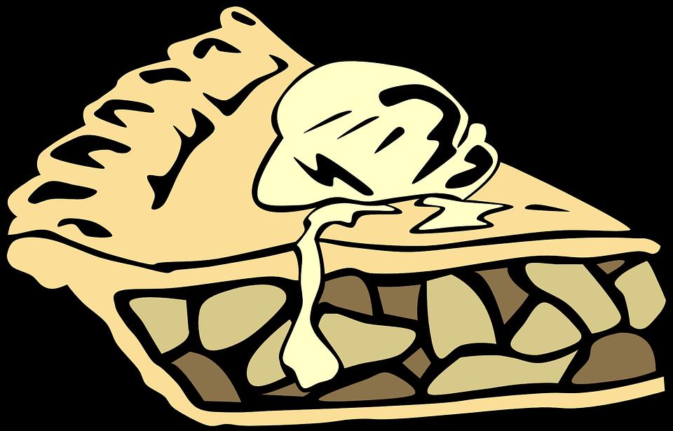 Apfelkuchen Kuchen Ein La Modus Kostenlose Vektorgrafik Auf Pixabay