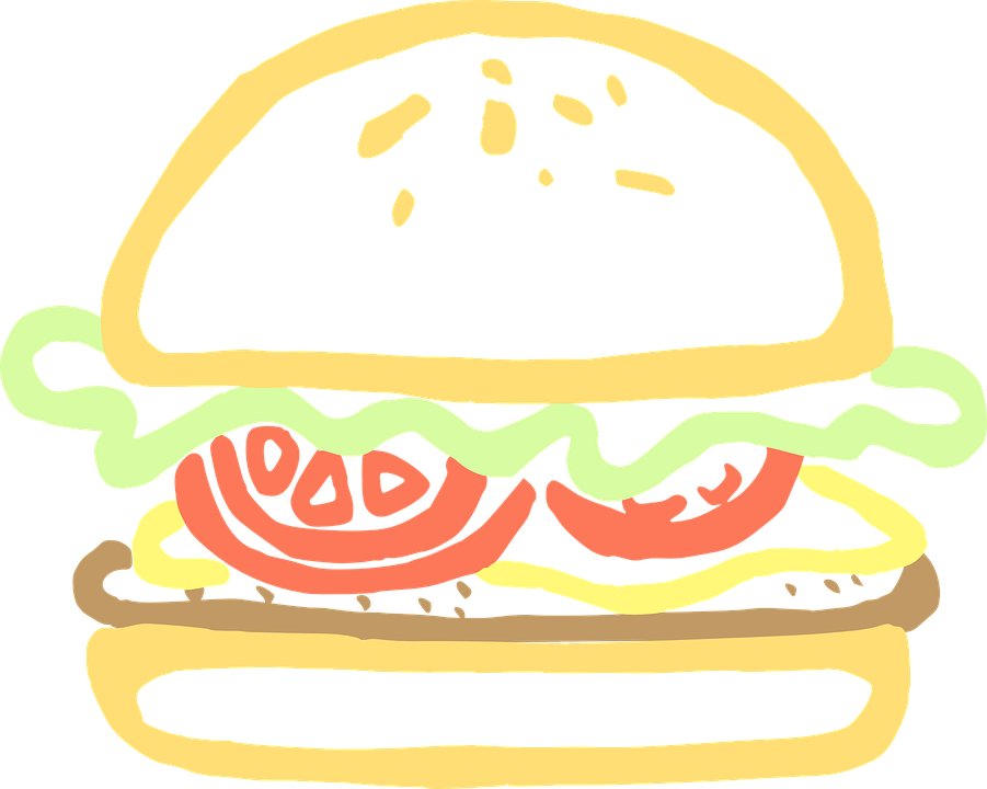 Hamburger Makanan Burger Gambar Vektor Gratis Di Pixabay