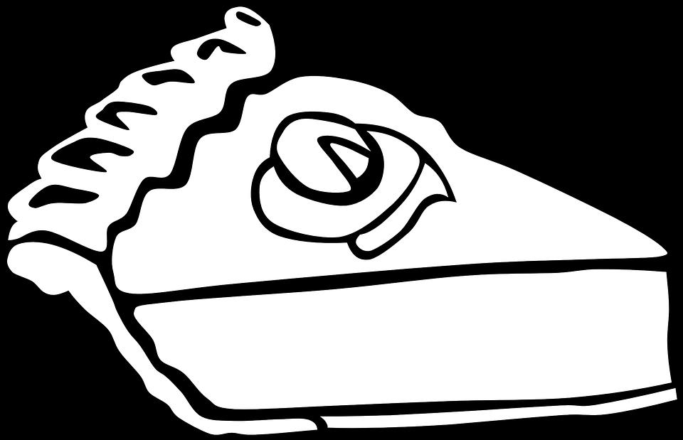 Pie White Black · Free vector graphic on Pixabay