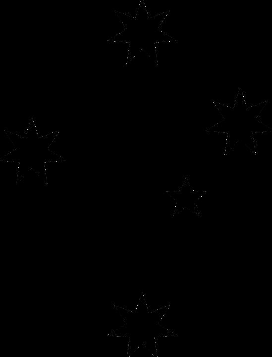 Stars Black Silhouette Astronomy Dark Starry