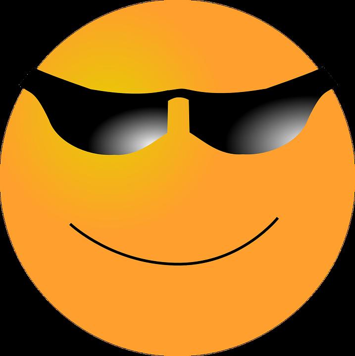 Vector gratis smiley cara feliz gafas de sol imagen - Emoticono gafas de sol ...