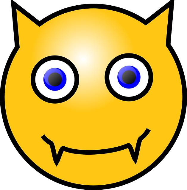 Image Vectorielle Gratuite Smiley Diable Jaune Visage