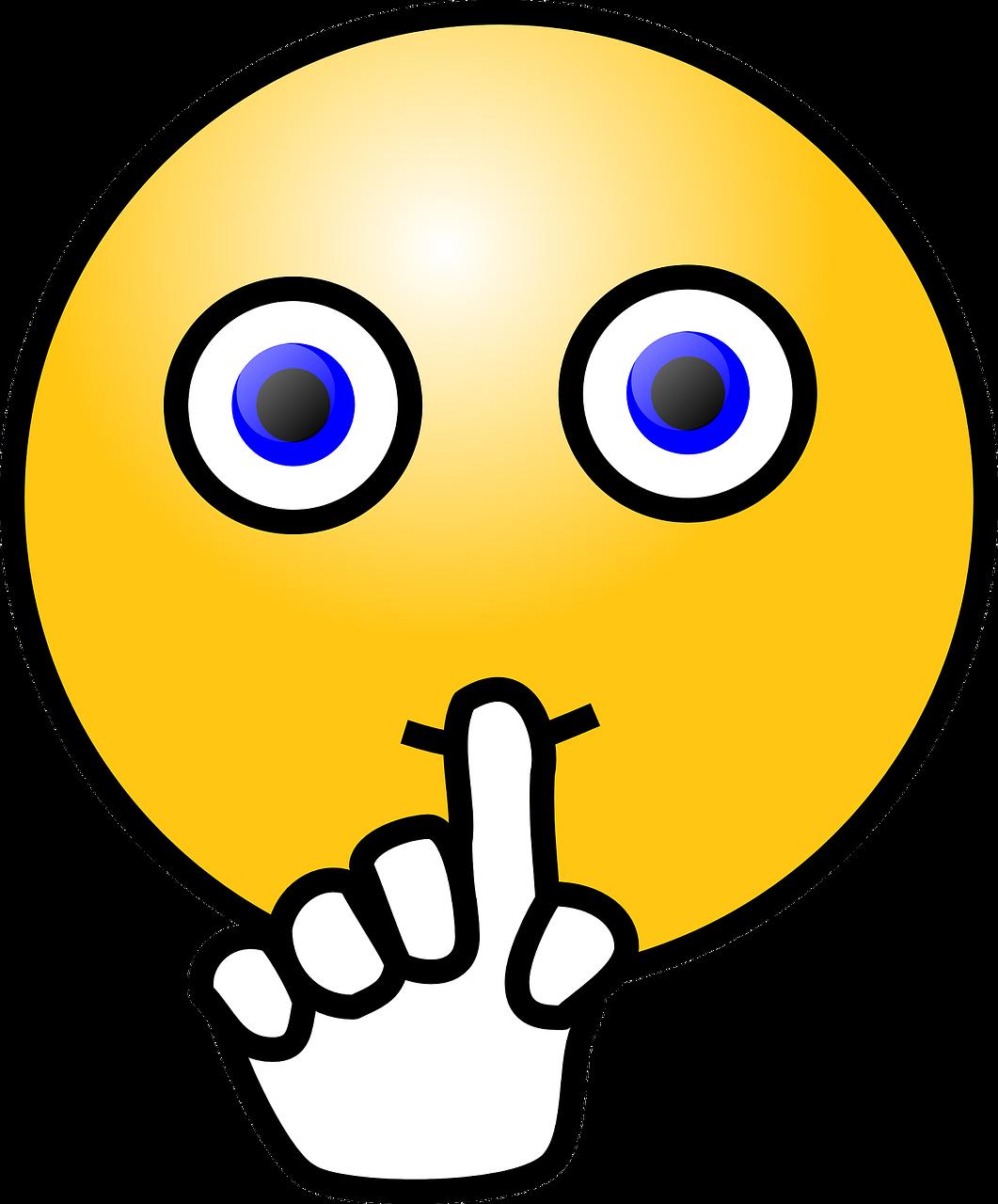 emoticon quite quiet - free vector graphic on pixabay  pixabay