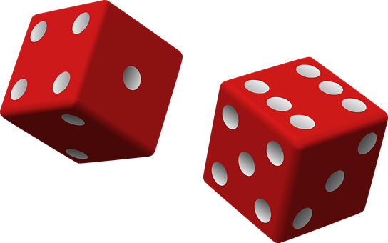 Dice, Red, Two, Game, Rolling, Chance