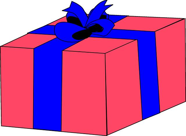 Image vectorielle gratuite: Cadeau, Ruban, Boîte, Rose ...