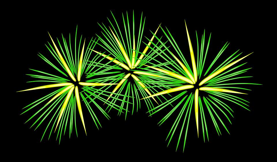 Fuegos Artificiales Festivo Verde Graficos Vectoriales Gratis En