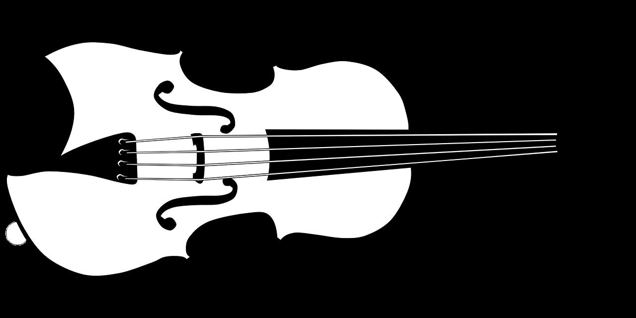 Черно-белые картинки скрипка