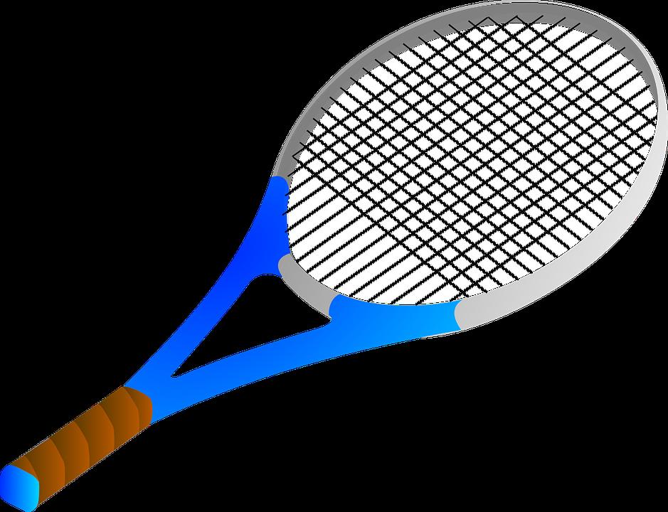 Bat Tennis Blue Free Vector Graphic On Pixabay