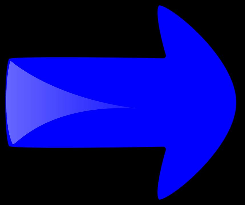 Free vector graphic: Arrow, Right, Blue, Shape, Forward ...