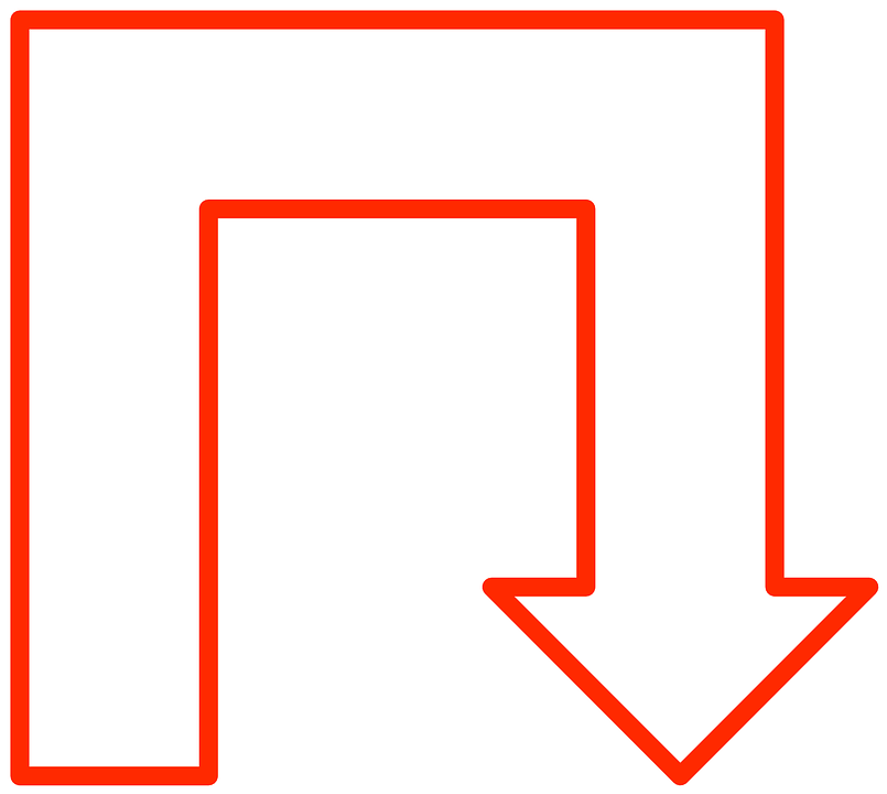 Kostenlose Vektorgrafik: Pfeil, U-Form, U, Form, Geometrie ...