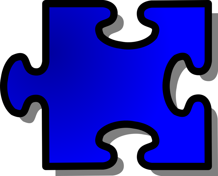 Jigsaw Puzzle Shape Blue Join