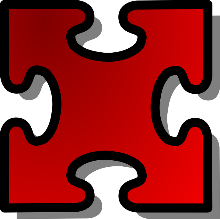 Jigsaw Puzzle Piece Red Single Challenge Solution