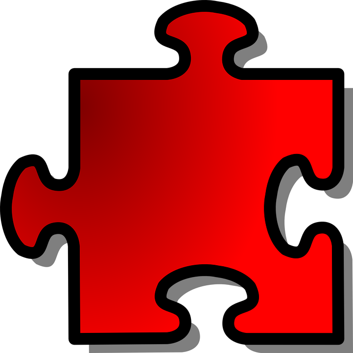 Jigsaw Puzzle Piece Shadow Shape Red Join Part