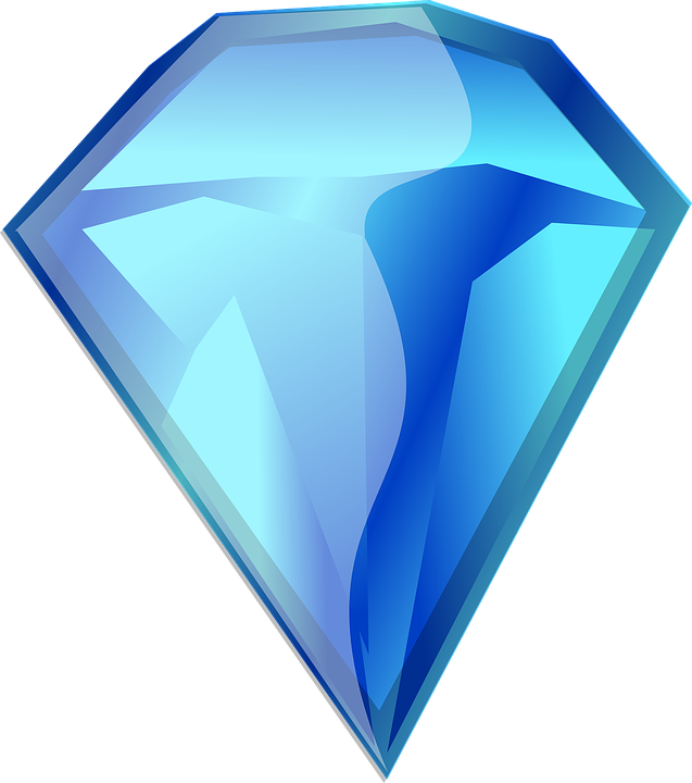 Bien-aimé Image vectorielle gratuite: Pierre Précieuse, Diamant, Bleu  MH64