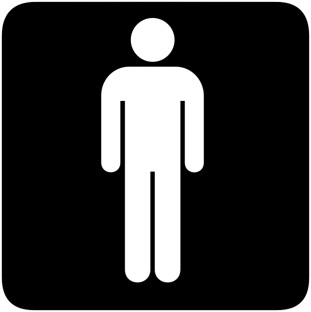 Bathroom Sign Guy free vector graphic: sign, gender, toilets, bathroom - free image