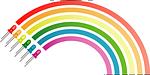 rainbow, colors, electronic