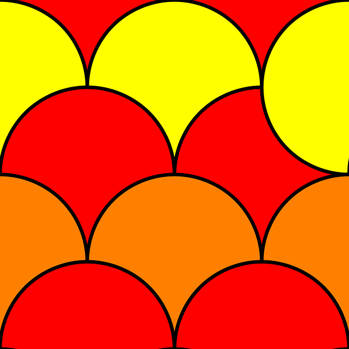 Free Vector Graphic Circle Pattern Yellow Red Free