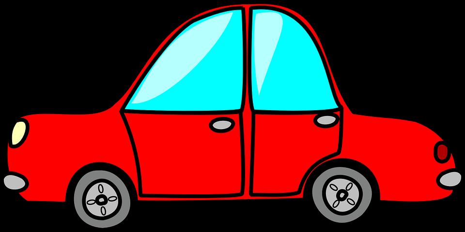 Red Car Vehicle Transportation Automobile Auto