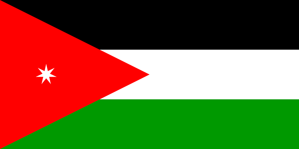 Jordan Flag Jordanian Free Vector Graphic On Pixabay