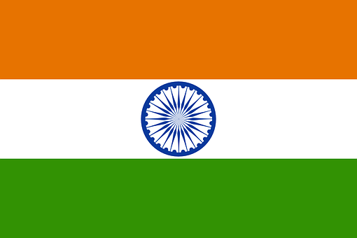 India, Flag, Indian, National, Country