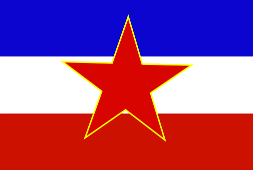 Yugoslavia Flag Nonexistent Country Ensign