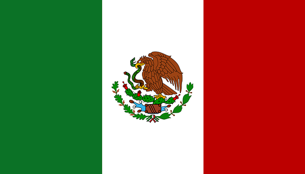 Mexico, Flag, Mexican, National, Nation