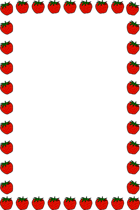 Strawberry Border Floral · Free vector graphic on Pixabay