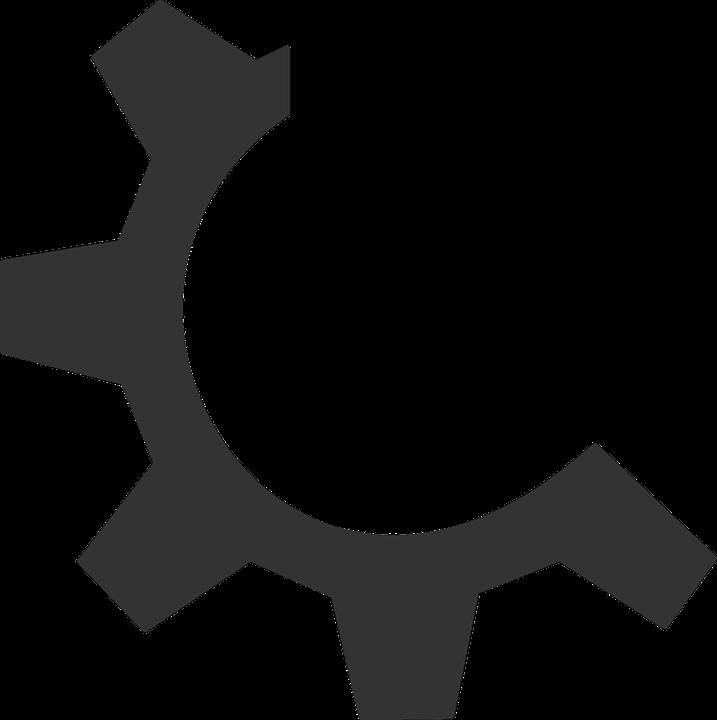 Free vector graphic: Gear, Cog, Executable, Black - Free ...  Black