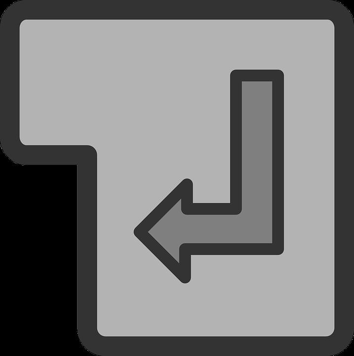 Enter Key Symbol Free Vector Graphic On Pixabay