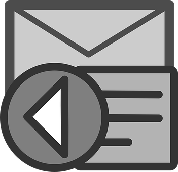 Representation of email list autoresponder showing an ebveloppe and the send button.