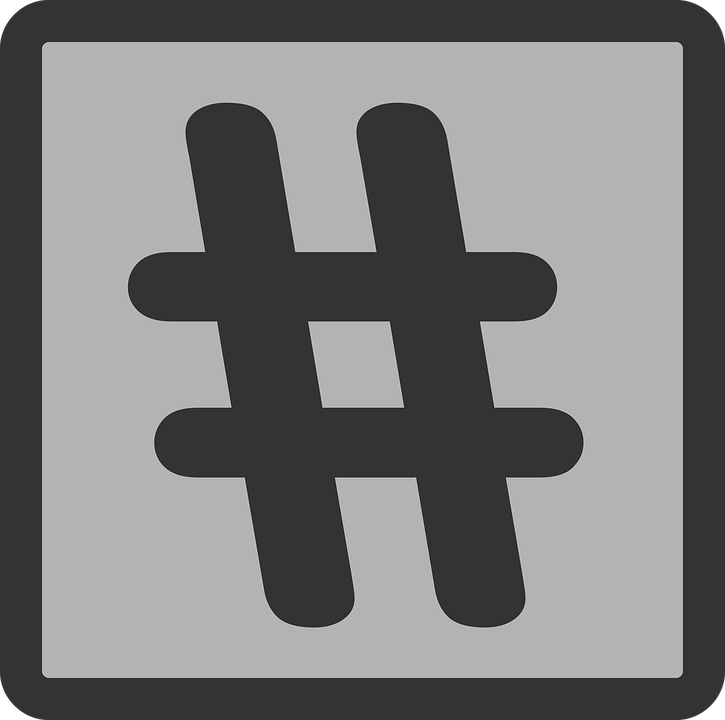 hashtags used on social media